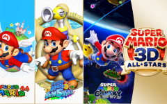Super Mario 3D All-Stars Box art and revealed games.