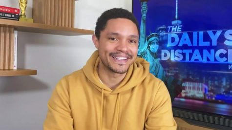 Trevor Noah host the Daily Social Distancing Show at his New York home.