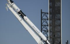 NASA launches SpaceX Falcon 9 rocket.